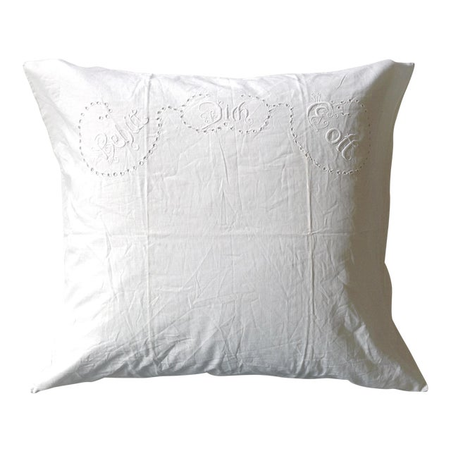 European German Blessing Pillow Sham For Sale