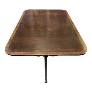 20th Century Traditional Double Pedestal Mahogany Dining Table For Sale
