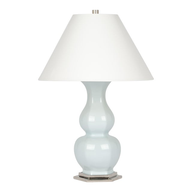 Sebastian Lamp in Powder Blue / Polished Nickel - Christopher Spitzmiller for The Lacquer Company For Sale