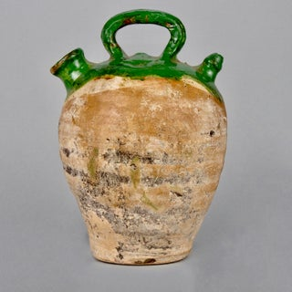 French Medium Terra Cotta and Green Glazed Jug Preview