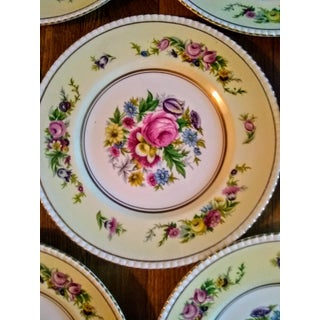 1940's Victorian Floral & Gold Trimmed English Luncheon Plates - Set of 12 Preview