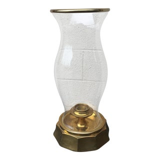 Mid-Century Modern Chapman Brass Hurricane Lamp For Sale