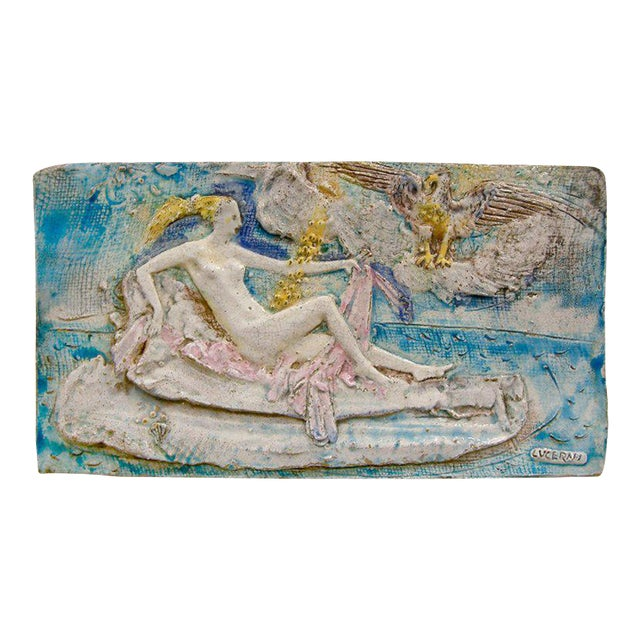Ugo Lucerni Majolica Wall Relief For Sale