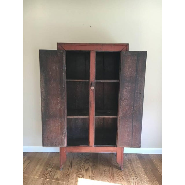 Antique Chinese Elm Cupboard - Image 3 of 7