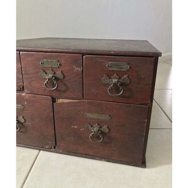English Antique 18th Chippendale Card Filing Library Cabinet For Sale - Image 3 of 13