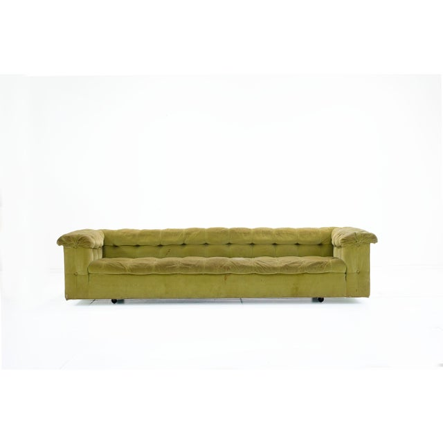 Stunning pair of party sofas by Edward Wormley for Dunbar. A wonderful pair ready for an updated look. Please inquire...