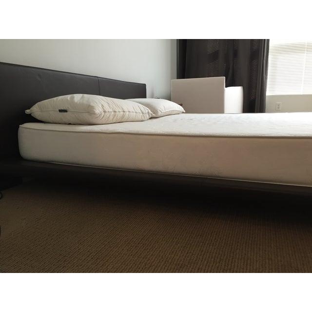 King Size Leather Platform Bed - Image 7 of 9
