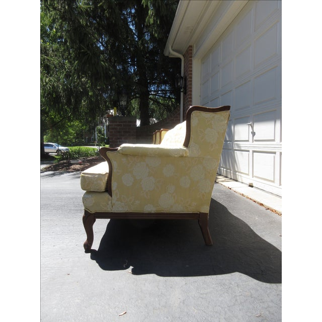 French-Style Yellow Rose Sofa - Image 3 of 8