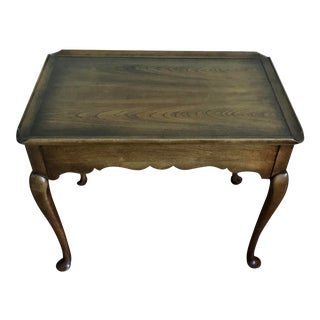 Vintage Queen Anne Tray Tea Table For Sale