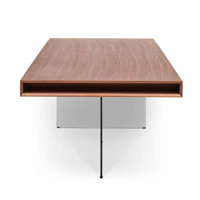 Contemporary Natalie Dining Table, Walnut For Sale - Image 3 of 6