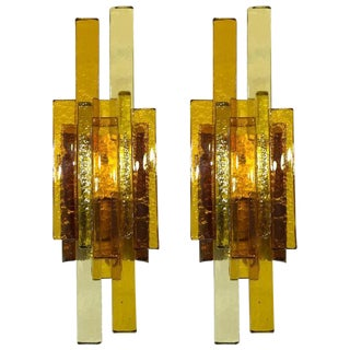 Pair of Glass Wall Sconces by Svend Aage Holm Sorensen For Sale