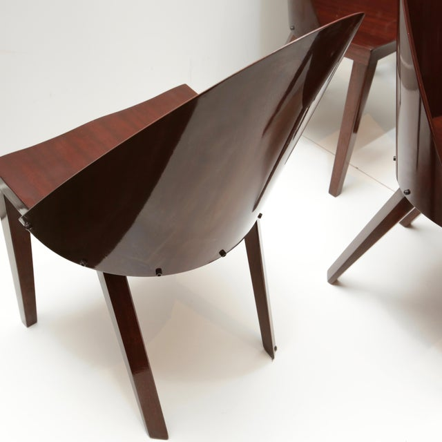2000 - 2009 Philippe Starck Royalton Mahogany Dining Chairs - Set of 6 For Sale - Image 5 of 8