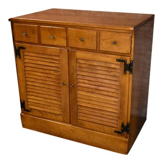 Ethan Allen Americana Style Two Door One Drawer Cabinet For Sale