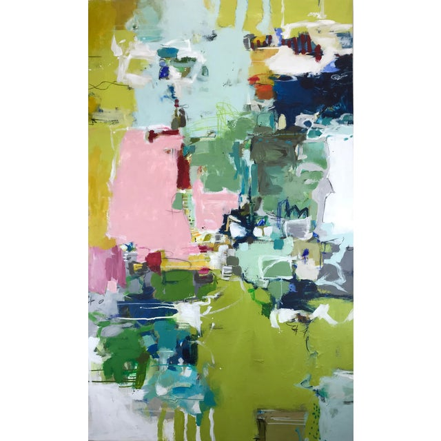 "Contemporary Gina Cochran ""Let's Play Pretend"" Large Original Abstract Painting For Sale - Image 3 of 12"