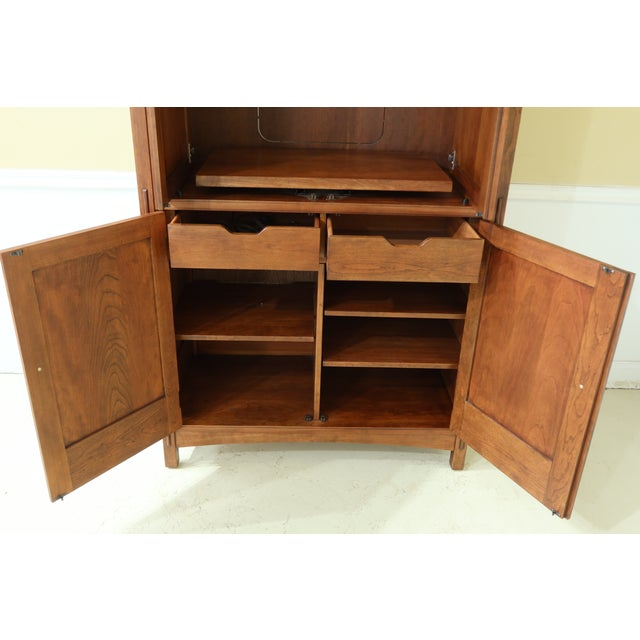 Stickley Arts & Crafts Mission Cherry Tv Armoire For Sale - Image 11 of 13
