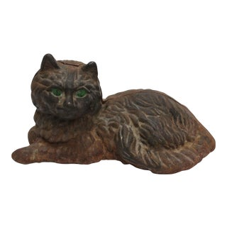 Cast Iron Hubley Cat Door Stop For Sale