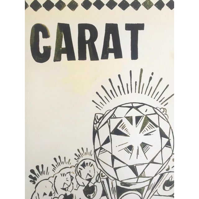 "Paper Andy Warhol Foundation Lithograph Print Pop Art Poster "" 1 Carat Happiness "" 1961 For Sale - Image 7 of 11"