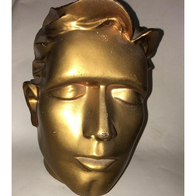 Plastic Vintage Fiberglass Man Mannequin Head For Sale - Image 7 of 13