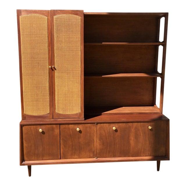 Mid Century Modern 2 Piece Bookshelf - Image 1 of 9