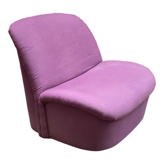 1980s Post Modern Directional Swivel Lounge Chair For Sale