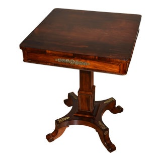 1880s Antique English Regency Rosewood Side Table For Sale