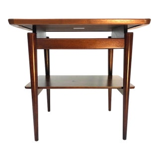 Mid Century Modern Jens Risom Floating Side Table For Sale
