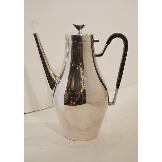 Danish Modern Denmark Complete Tea and Coffee Service by John Prip for Reed & Barton - 5 Pc. Set For Sale - Image 3 of 8