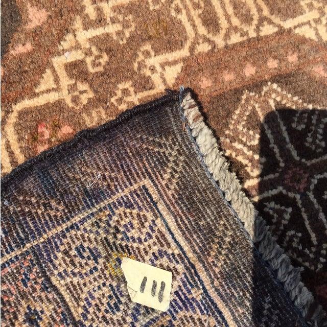 "Vintage Baluchi Persian Rug - 2'10"" x 4'1"" - Image 11 of 11"