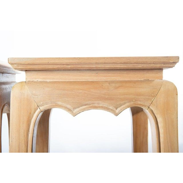 Pair Ming Style Pedestal Tables For Sale In New York - Image 6 of 13