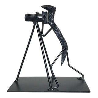 Photographer Railroad Spike Sculpture by Doyle LaVelle Herrin For Sale