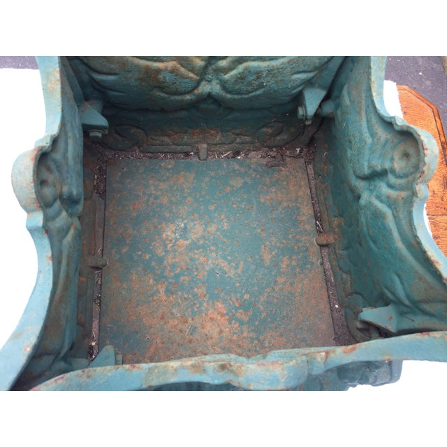 French Cast Iron Planters a Pair For Sale In San Francisco - Image 6 of 10