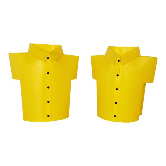 "Yellow Memphis Pop Art ""T Shirt"" Lamps - a Pair For Sale"