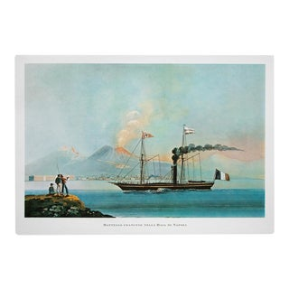 """1964 """"French Boat in the Bay of Naples"""" Original Lithograph For Sale"""