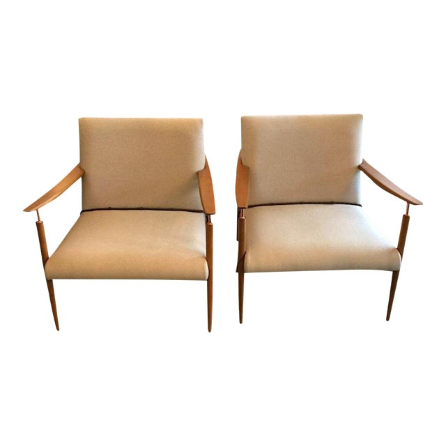 Mid-Century Inspired Lounge Chairs - a Pair For Sale