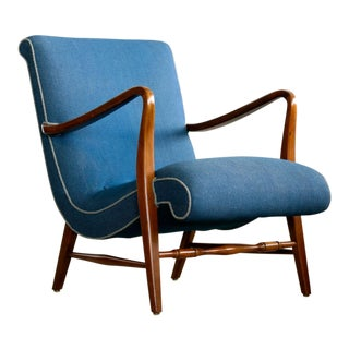 Danish Midcentury Easy Chair in the Manner of Alfred Christensen For Sale