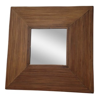 Midcentury Pencil Reed Mirror For Sale