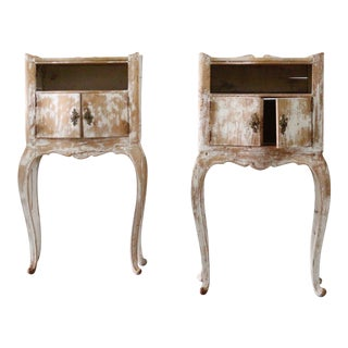 Pair of 19th Century Stripped Italian Side Tables For Sale