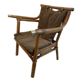 1960s Vintage Rattan Arm Chair For Sale