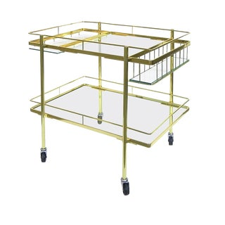 Cesare Lacca Brass Bar Cart For Sale