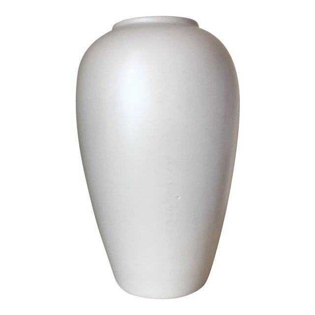 Haeger Cream Ceramic Vase - Image 1 of 4