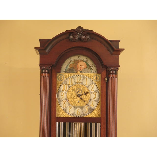 Age: Approx. 100 Years Old Details: Mahogany High Quality Construction Traditional Style Full Column Sides Clock Was...