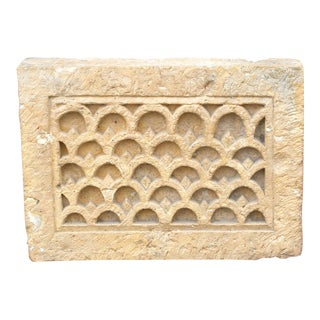 Architectural Sandstone Lingam Panel on Stand For Sale