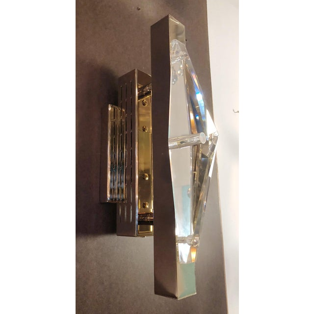 Crystal Gold Sconces / Flush Mounts by Fabio Ltd For Sale In Palm Springs - Image 6 of 10