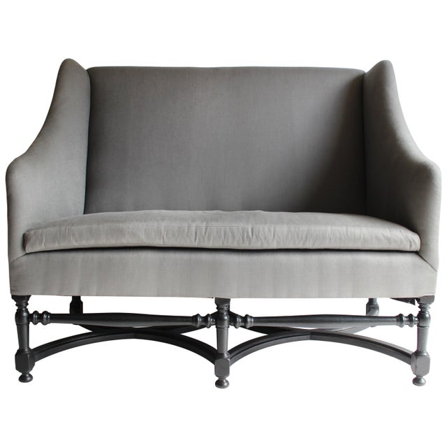 Black 19th Century French Ebonized Settee For Sale - Image 8 of 8