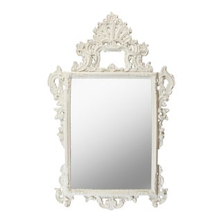 Vintage French Painted Rococo Mirror