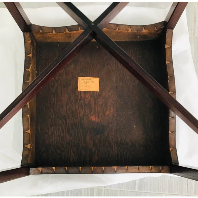 Antique French Game Table With Leather Top From John Wanamaker For Sale - Image 9 of 11
