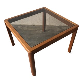 Vintage Mid Century Danish Modern End Table by Uldum Mobelfabrik. For Sale