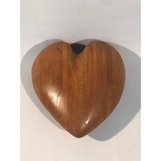 """Mid-Century Modern Hand Carved Large Scale Wood """"Heart"""" Sculpture Preview"""