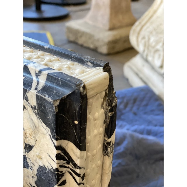 19th Century Black Marble Entryway Shelf/Fireplace Surround For Sale - Image 9 of 13