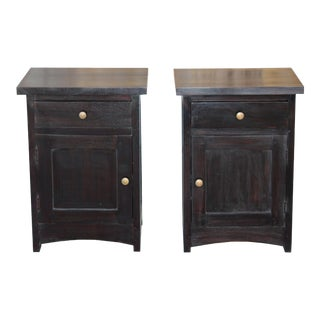 Mahogany Nightstands, a Pair For Sale